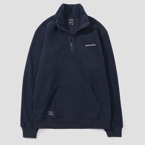 POLAR FLEECE HALF ZIP-UP (NAVY) [GNZ021F43NA]