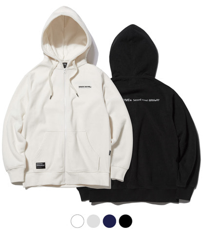 1+1 POLAR FLEECE HOOD FULL ZIP-UP [GHZ008G43]