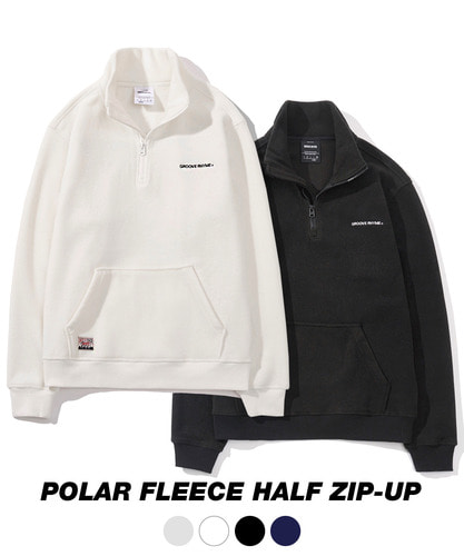 1+1 SUPER PACK POLAR FLEECE HALF ZIP-UP [GNZ021F43BK/WH/NA/LG/PI]