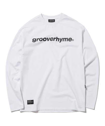 LOGO PRINT LONG SLEEVE T-SHIRTS OVER FIT (WHITE) [GLT003G33WH]