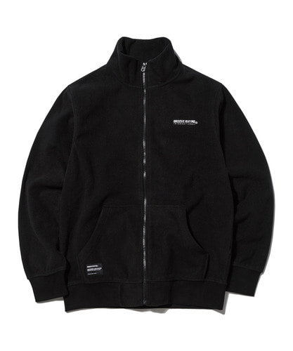 2018 POLAR FLEECE FULL ZIP-UP (BLACK) [GFZ007G43BK]
