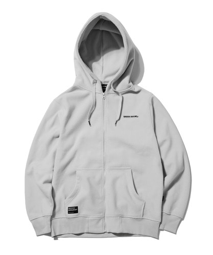 2018 POLAR FLEECE HOOD FULL ZIP-UP (LIGHT GRAY) [GHZ008G43LG]