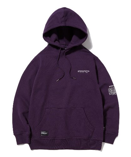 UNFORGETTABLE BACK PATCH HOODIE (PURPLE) [GHD012G43PU]
