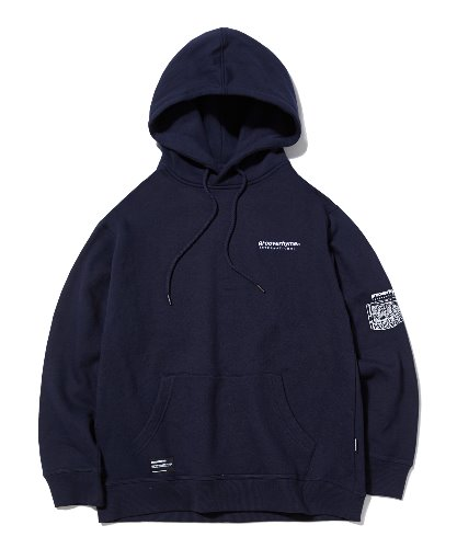 UNFORGETTABLE BACK PATCH HOODIE (NAVY) [GHD012G43NA]