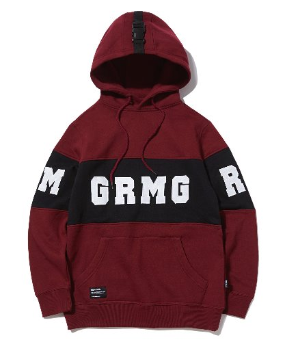 [그루브라임] CENTER LOGO LETTERING HOODIE (BURGUNDY) [GHD004G43BU]