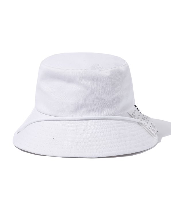 LABEL BUCKET HAT (WHITE) [GCA021G13WH]