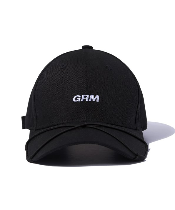 STRING PEAK BALL CAP (BLACK) [GCA015G13BK]