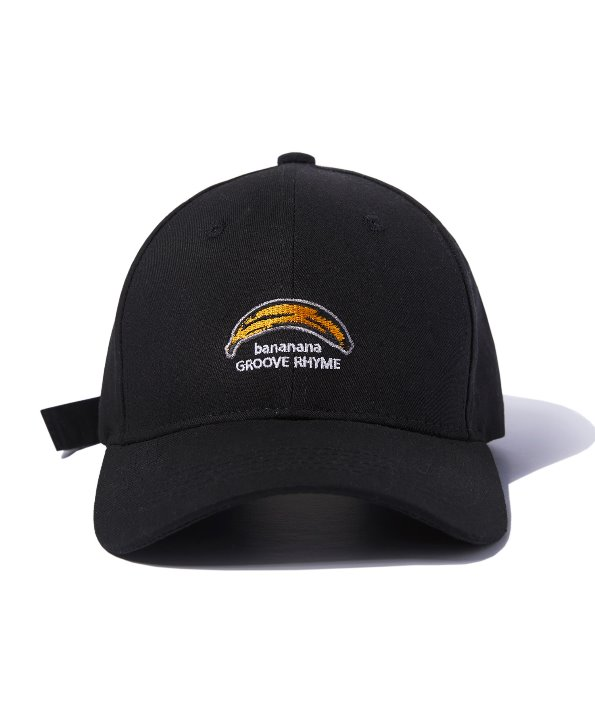 [그루브라임] BANANA LOGO BALL CAP (BLACK) [GCA004G13BK]