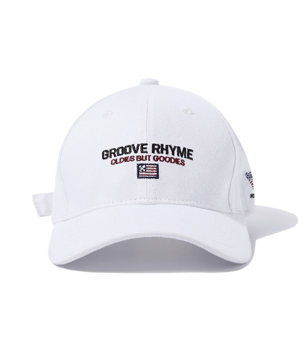 [그루브라임] LOGO SLOGAN BALL CAP (WHITE) [GCA011G13WH]