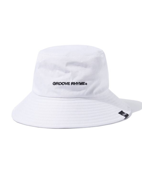 BASIC LOGO BUCKET HAT (WHITE) [GCA020G13WH]
