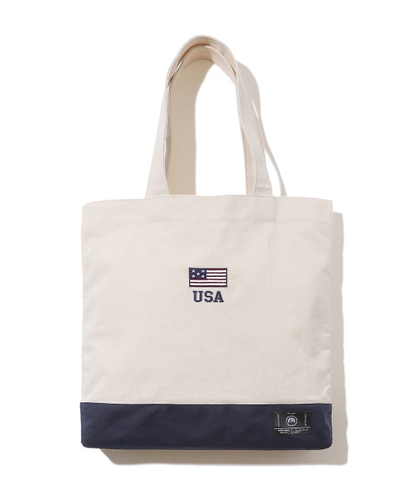 STARS AND STRIPES ECO BAG (BEIGE) [GG004E23BE]