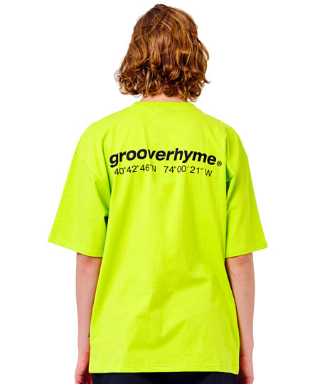 LOGO BASIC OVER FIT T-SHIRTS (LIME) [GTS020H23LM]