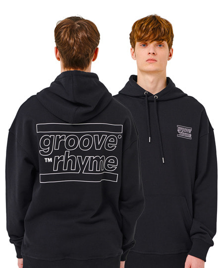 OVER FIT BACK BIG LOGO HOODY (BLACK) [GHD001H13BK]