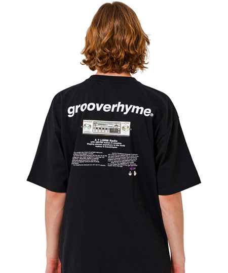 [그루브라임] RADIO PRINT OVER FIT T-SHIRTS (BLACK) [GTS010H23BK]