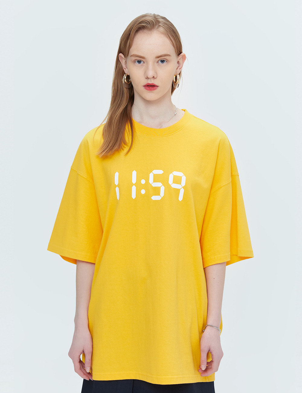 BASIC OVER FIT T-SHIRTS (YELLOW) [ETS001H23YE]