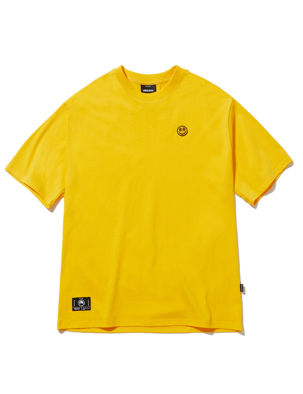 SMALL SMILE LOGO OVER FIT T-SHIRTS (YELLOW) [GTS050H23YE]