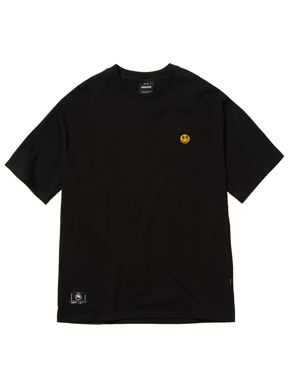 SMALL SMILE LOGO OVER FIT T-SHIRTS (BLACK) [GTS050H23BK]