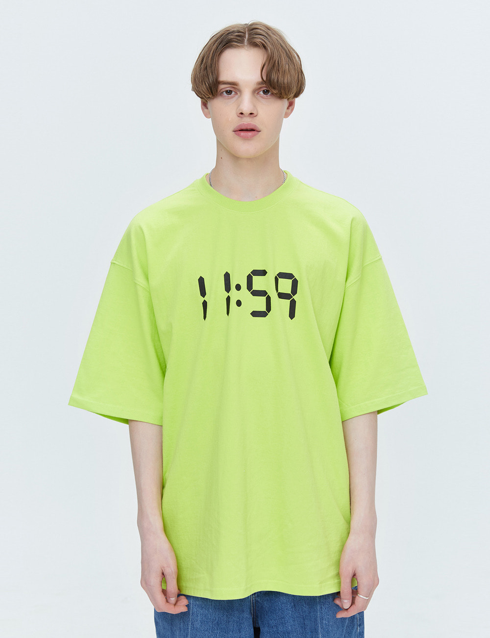 BASIC OVER FIT T-SHIRTS (LIME) [ETS001H23LI]