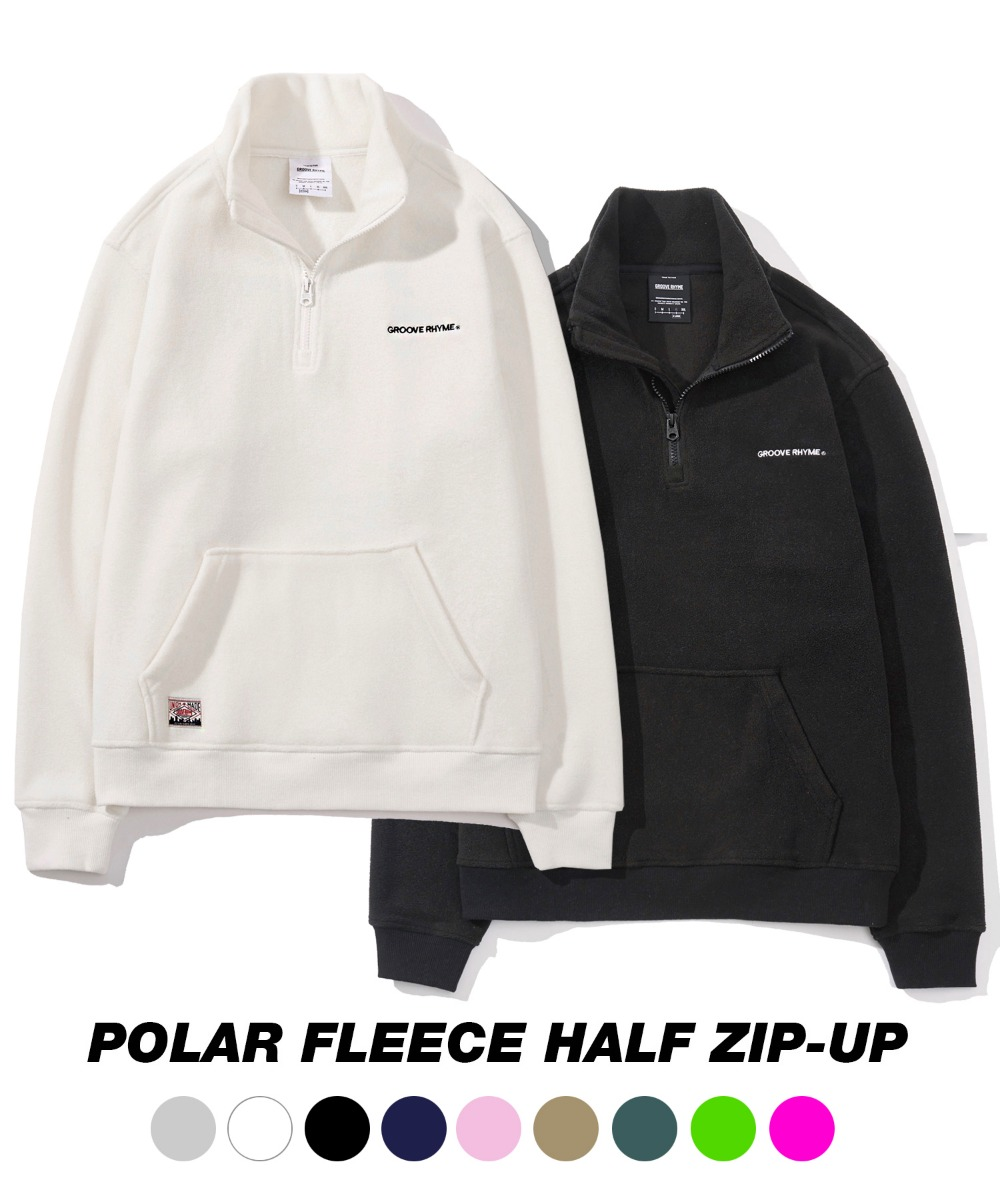 [그루브라임] 1+1 SUPER PACK POLAR FLEECE HALF ZIP-UP [GNZ001G43BK/WH/NA/LG/PI/BE/MI/LI/DPI]