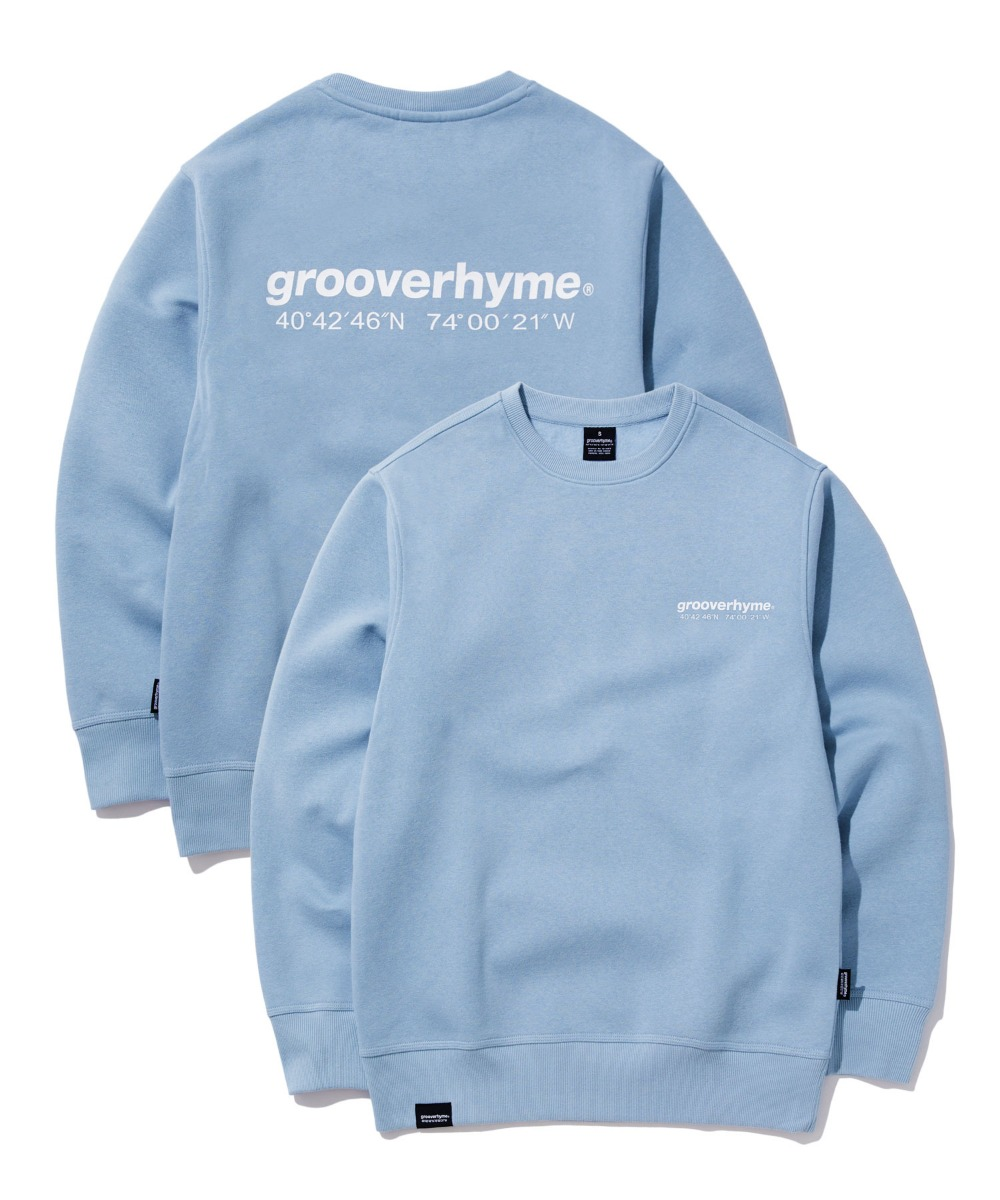 NYC LOCATION SWEAT SHIRTS (GREY BLUE) [GMT501H43BLA]