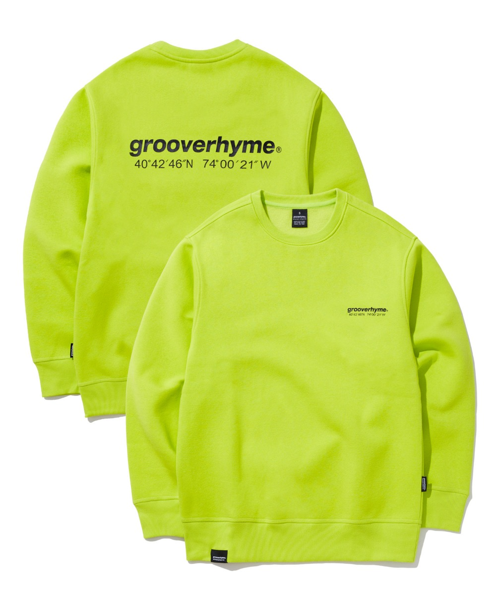 NYC LOCATION SWEAT SHIRTS (LIME) [GMT501H43LI]