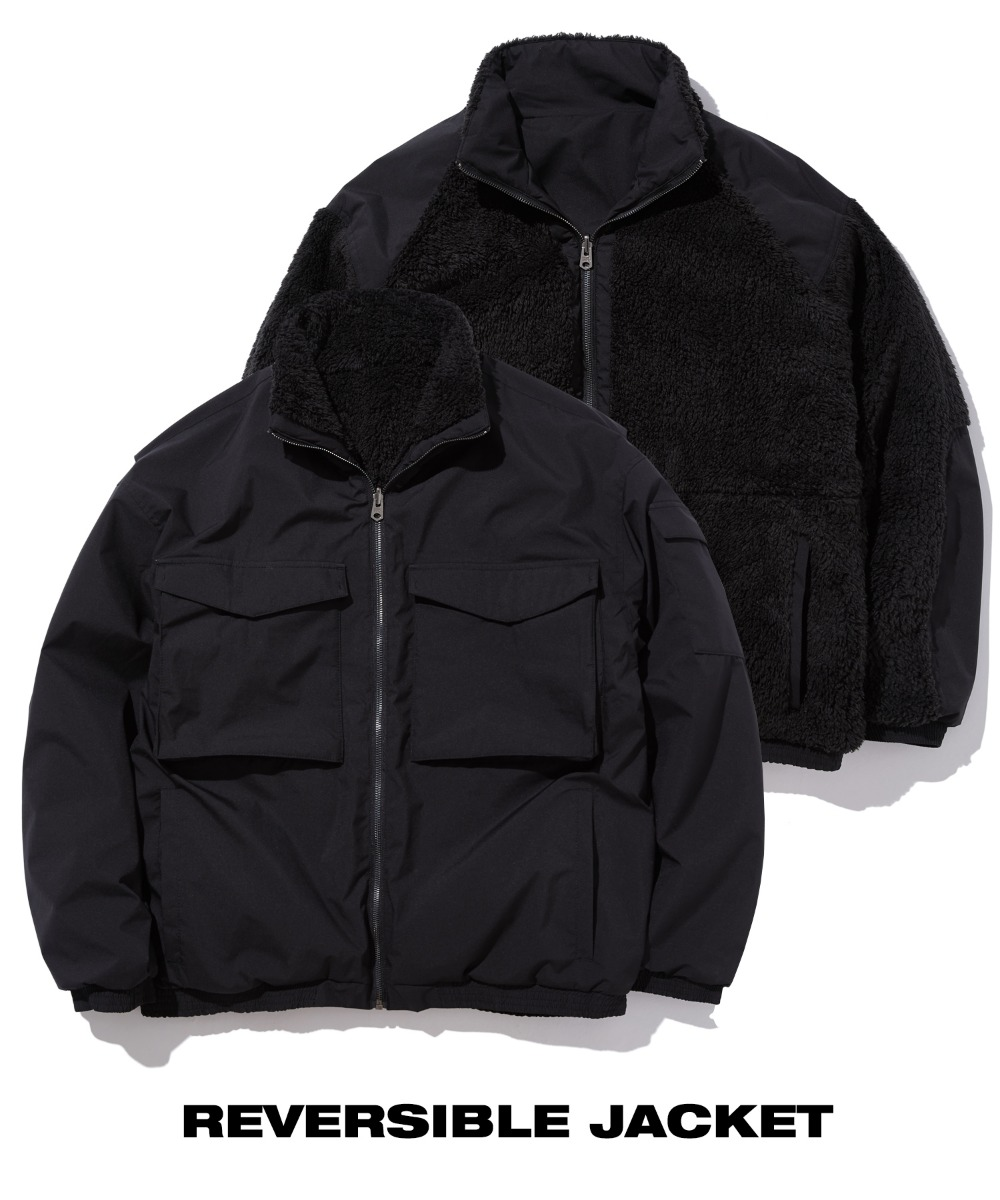 REVERSIBLE FUR FLEECE JUMPER (BLACK) [GJP201H43BKA]