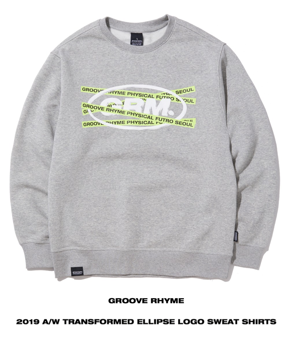 TRANSFORMED ELLIPSE LOGO SWEAT SHIRTS (GREY) [GMT502H43MG]