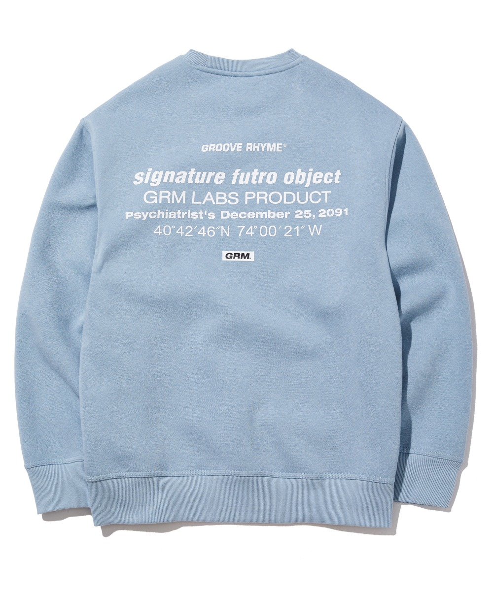 TRANSFORMED LOCATION LOGO SWEAT SHIRTS (BLUE) [GMT505H43BLA]