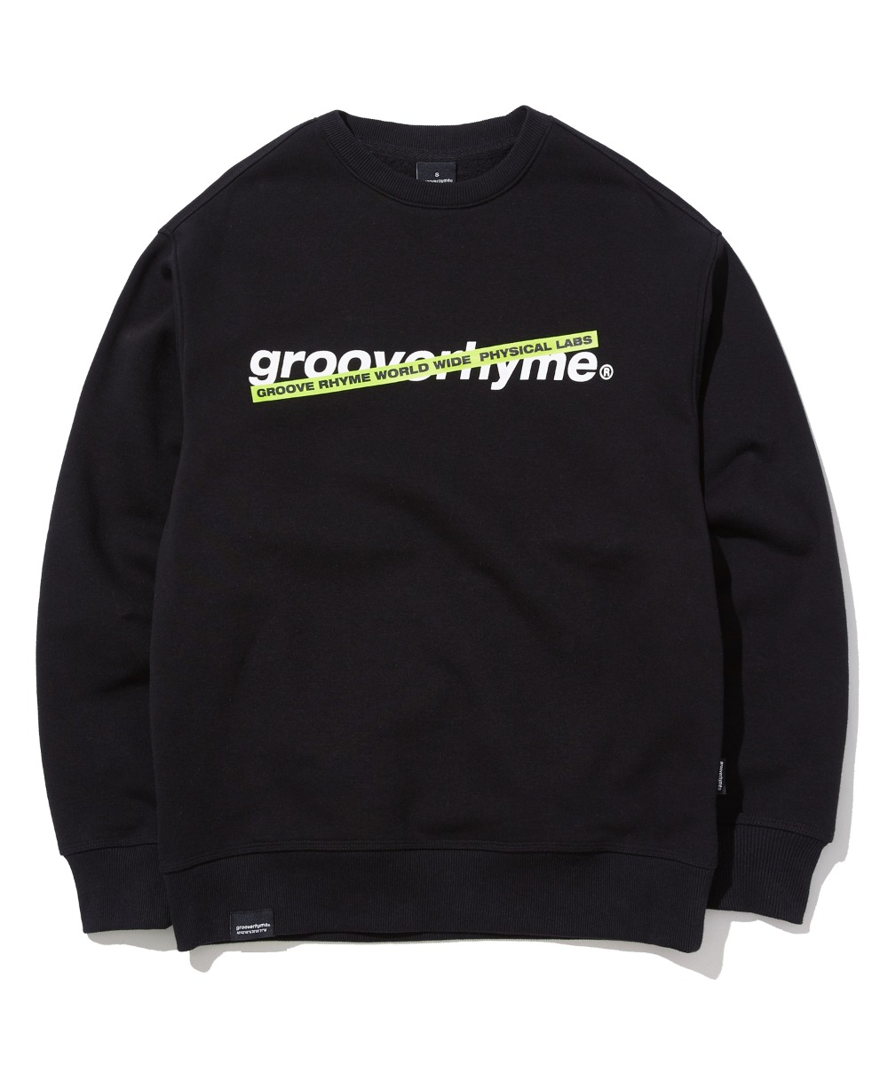 CROSS BAR LOGO SWEAT SHIRTS (BLACK) [GMT503H43BKA]