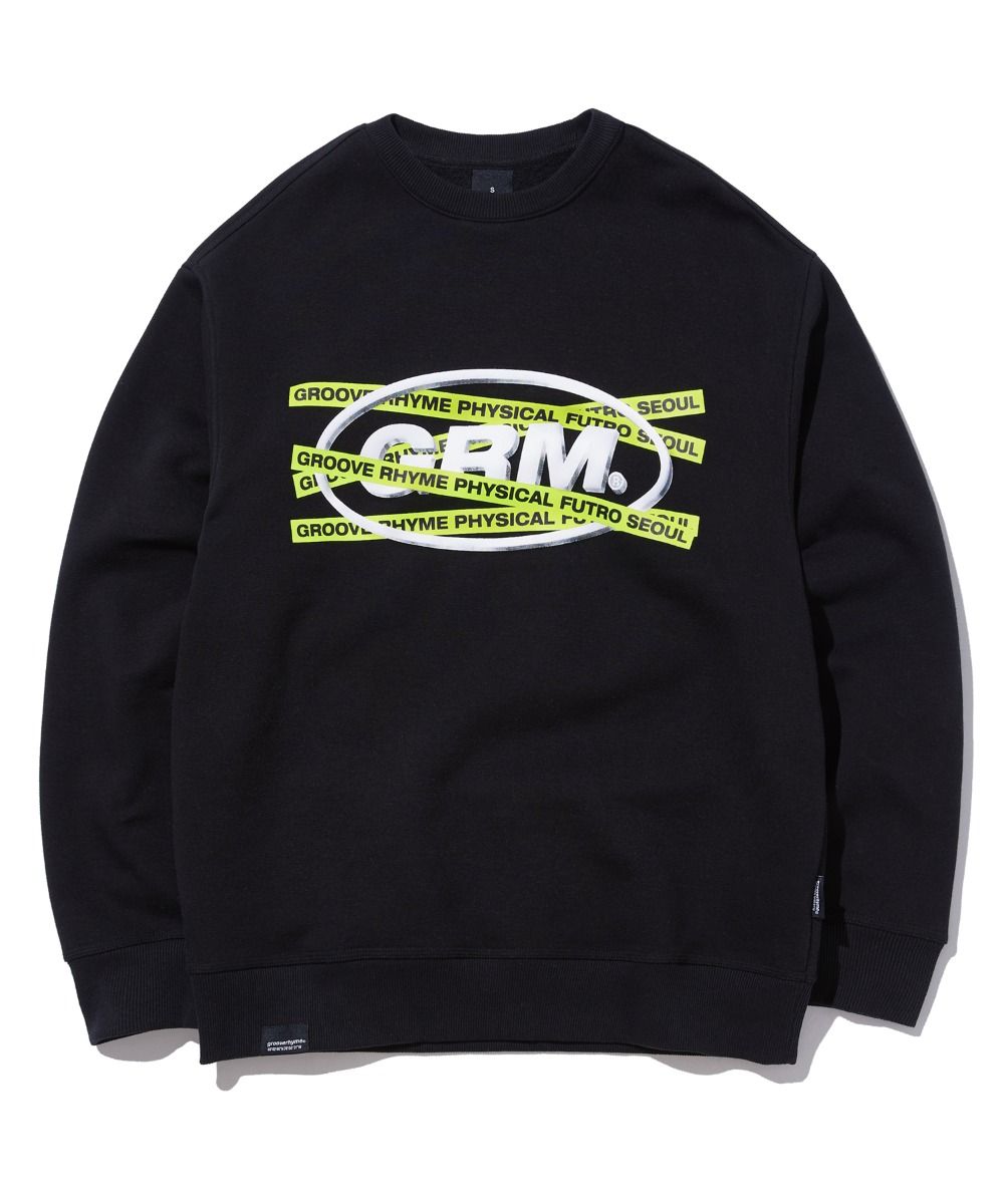 TRANSFORMED ELLIPSE LOGO SWEAT SHIRTS (BLACK) [GMT502H43BKA]