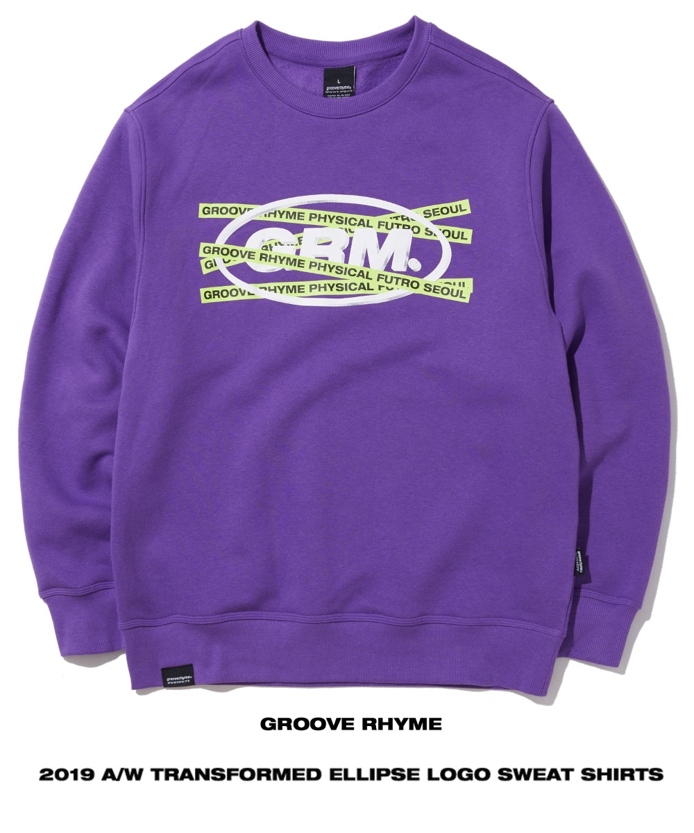 TRANSFORMED ELLIPSE LOGO SWEAT SHIRTS (PURPLE) [GMT502H43PU]