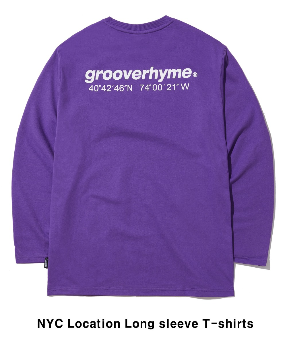 NYC LOCATION LONG SLEEVE T-SHIRTS (VIOLET) [GLT601H33VIA]