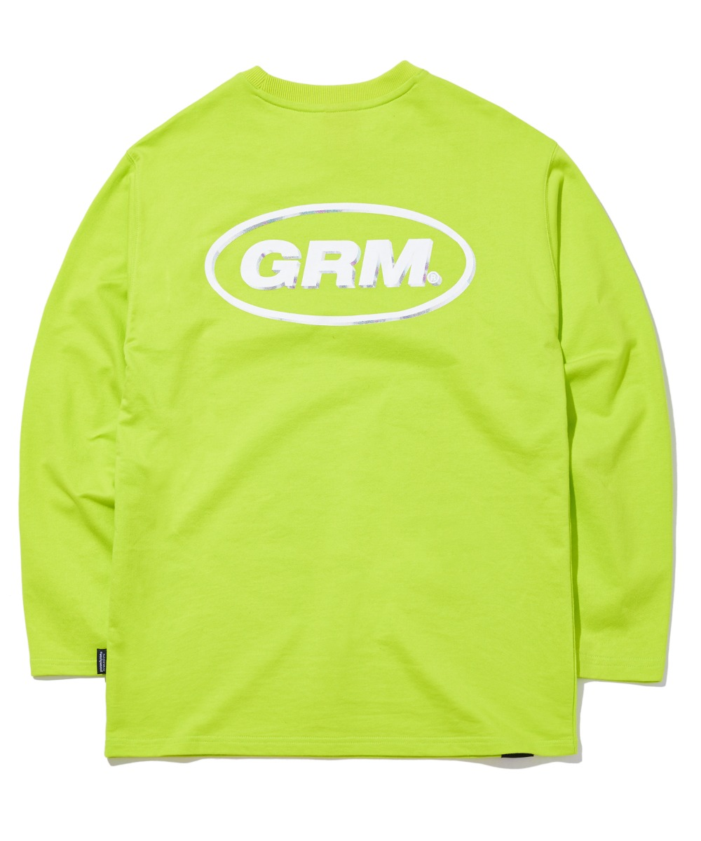THREE DIMENSIONAL LOGO LONG SLEEVE T-SHIRTS (LIME) [GLT604H33LMA]