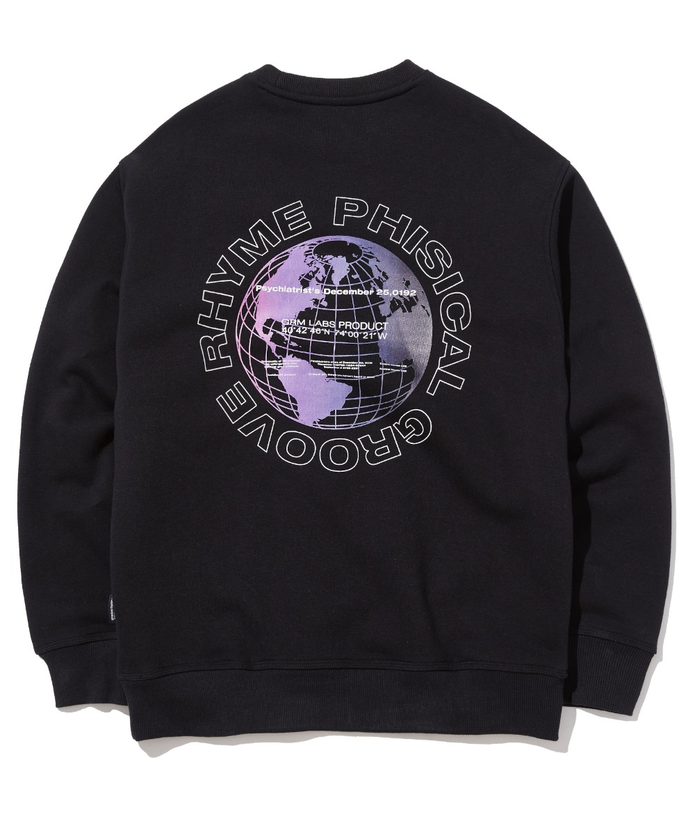 GLOBE LOGO SWEAT SHIRTS (BLACK) [GMT507H43BKA]