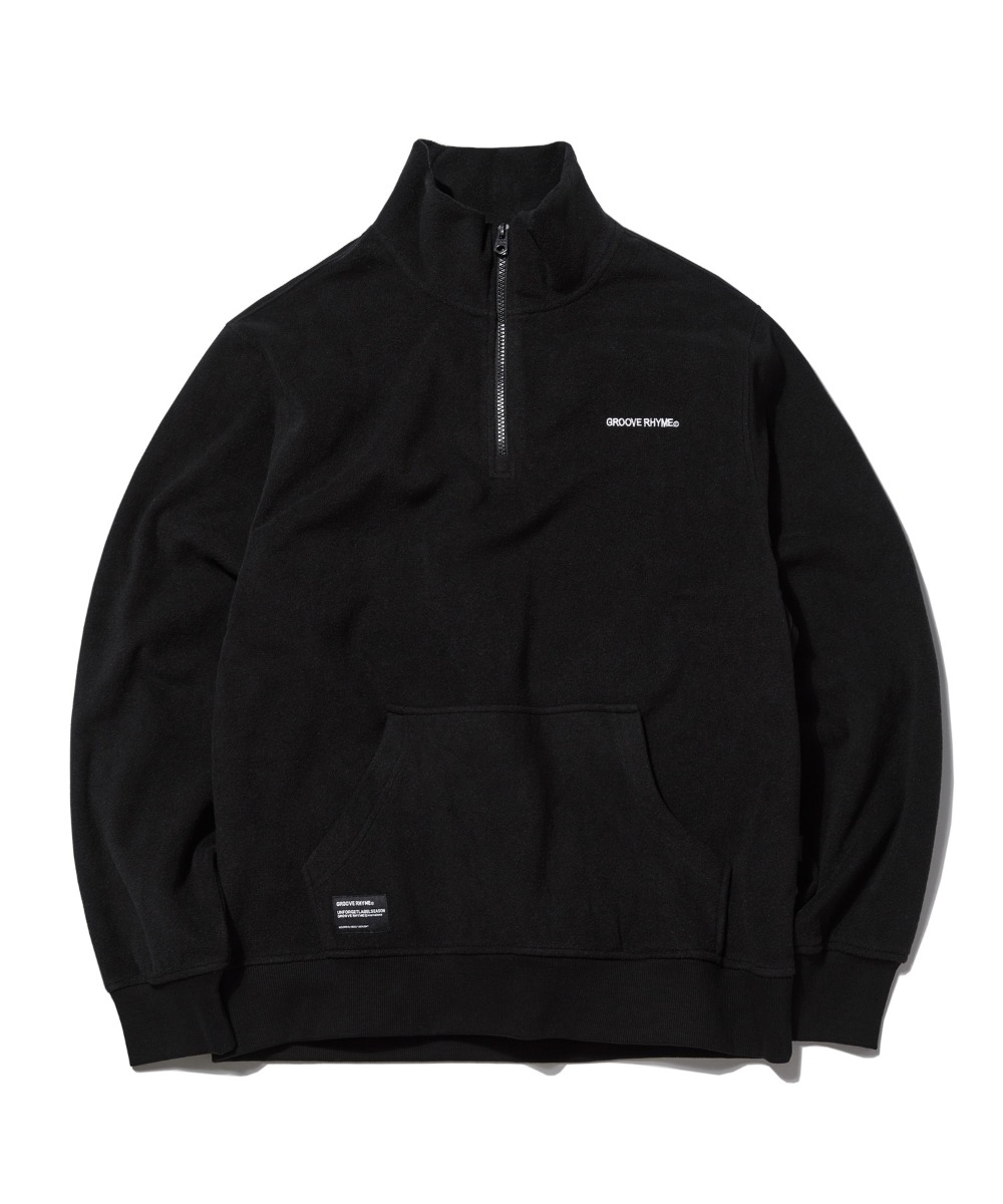 POLAR FLEECE HALF ZIP-UP (BLACK) [GNZ001G43BK]