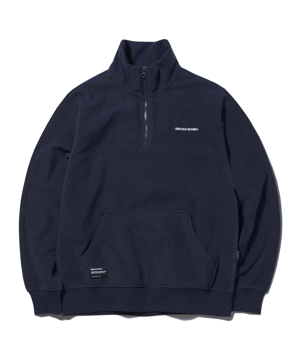 POLAR FLEECE HALF ZIP-UP (NAVY) [GNZ001G43NA]