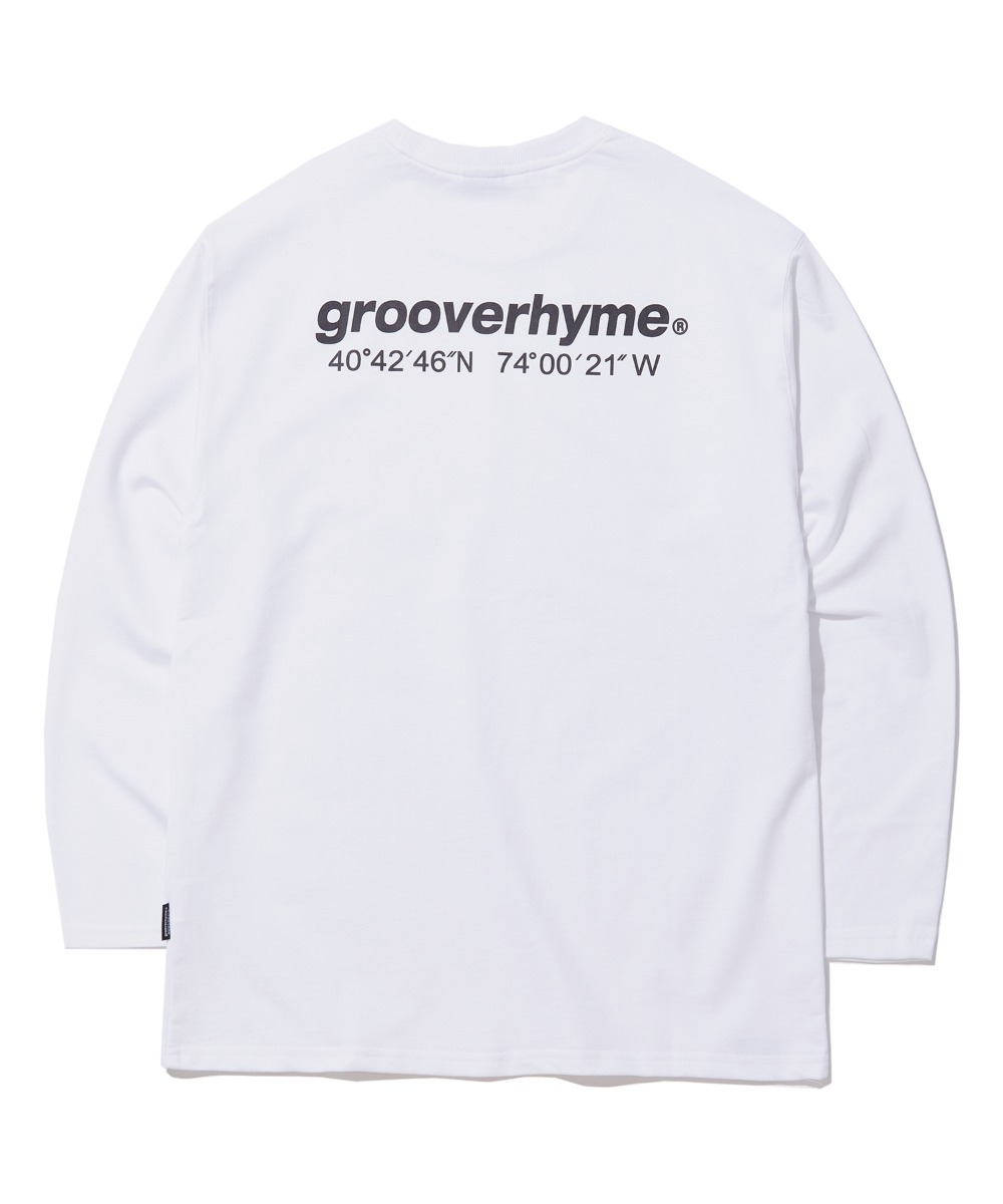 NYC LOCATION LONG SLEEVE T-SHIRTS (WHITE) [GLT623I13WH]