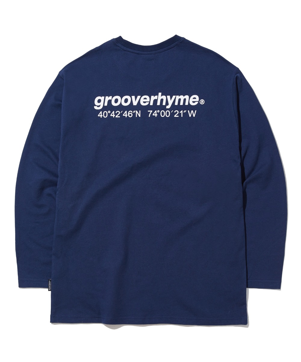 NYC LOCATION LONG SLEEVE T-SHIRTS (NAVY) [GLT623I13NA]