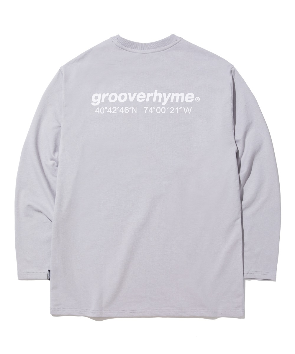 NYC LOCATION LONG SLEEVE T-SHIRTS (LIGHT GREY) [GLT623I13LG]