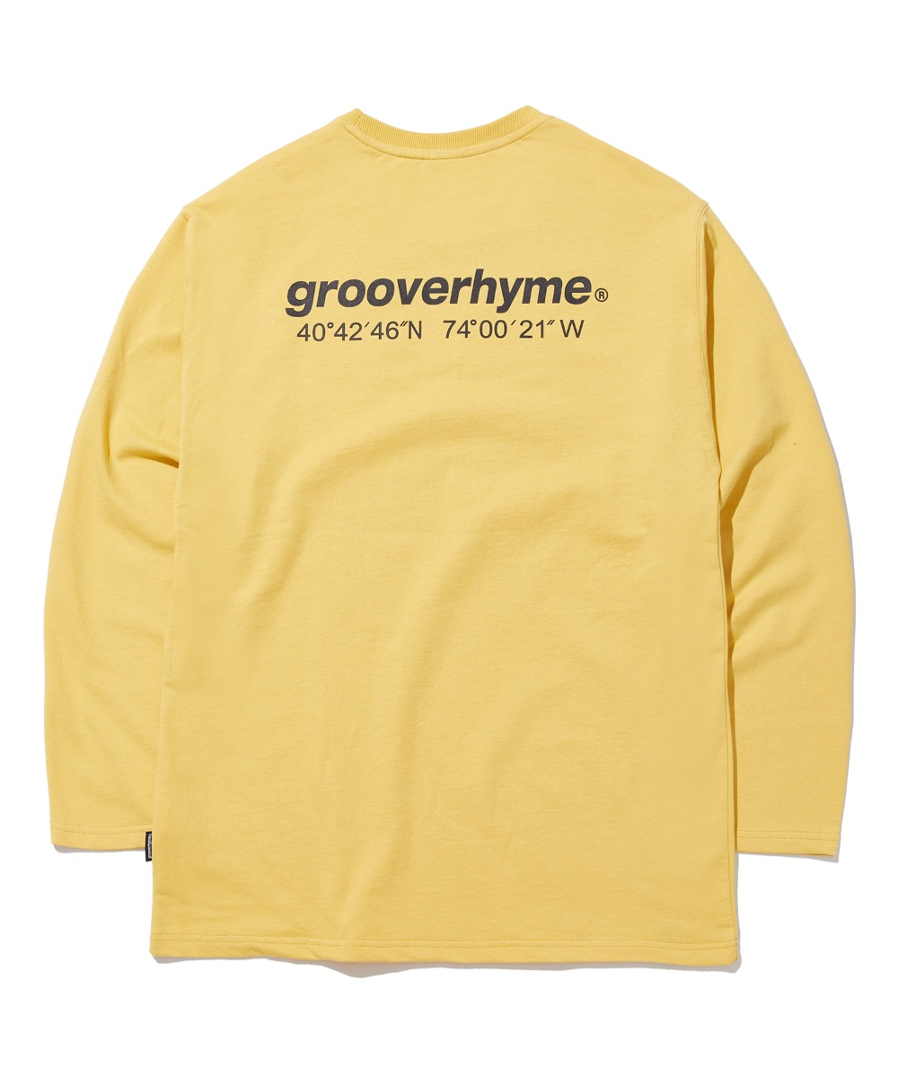 NYC LOCATION LONG SLEEVE T-SHIRTS (LIGHT YELLOW) [GLT623I13YE]