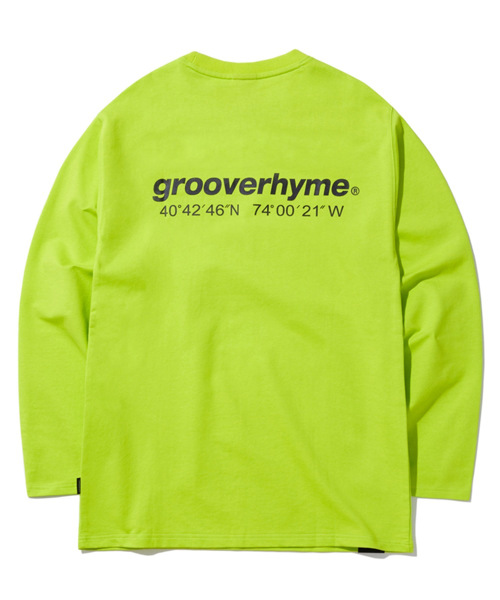 NYC LOCATION LONG SLEEVE T-SHIRTS (LIME) [GLT601H33LI]