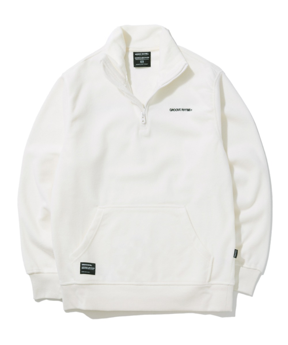 POLAR FLEECE HALF ZIP-UP (WHITE) [GNZ301G43WH]