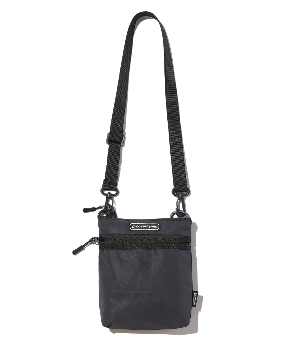 FLAT REFLECTIVE CROSS BAG (BLACK) [GBG109H53BK]