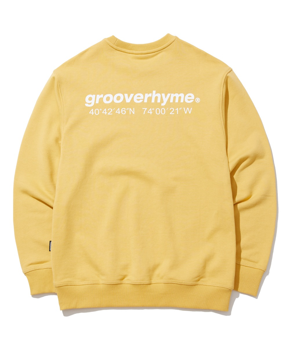 NYC LOCATION SWEAT SHIRTS (YELLOW) [GMT521I13YE]