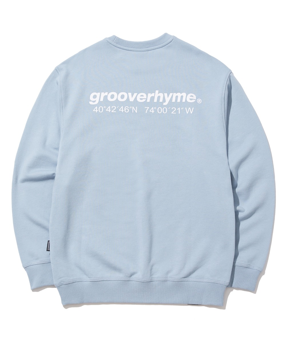 NYC LOCATION SWEAT SHIRTS (LIGHT BLUE) [GMT521I13LB]