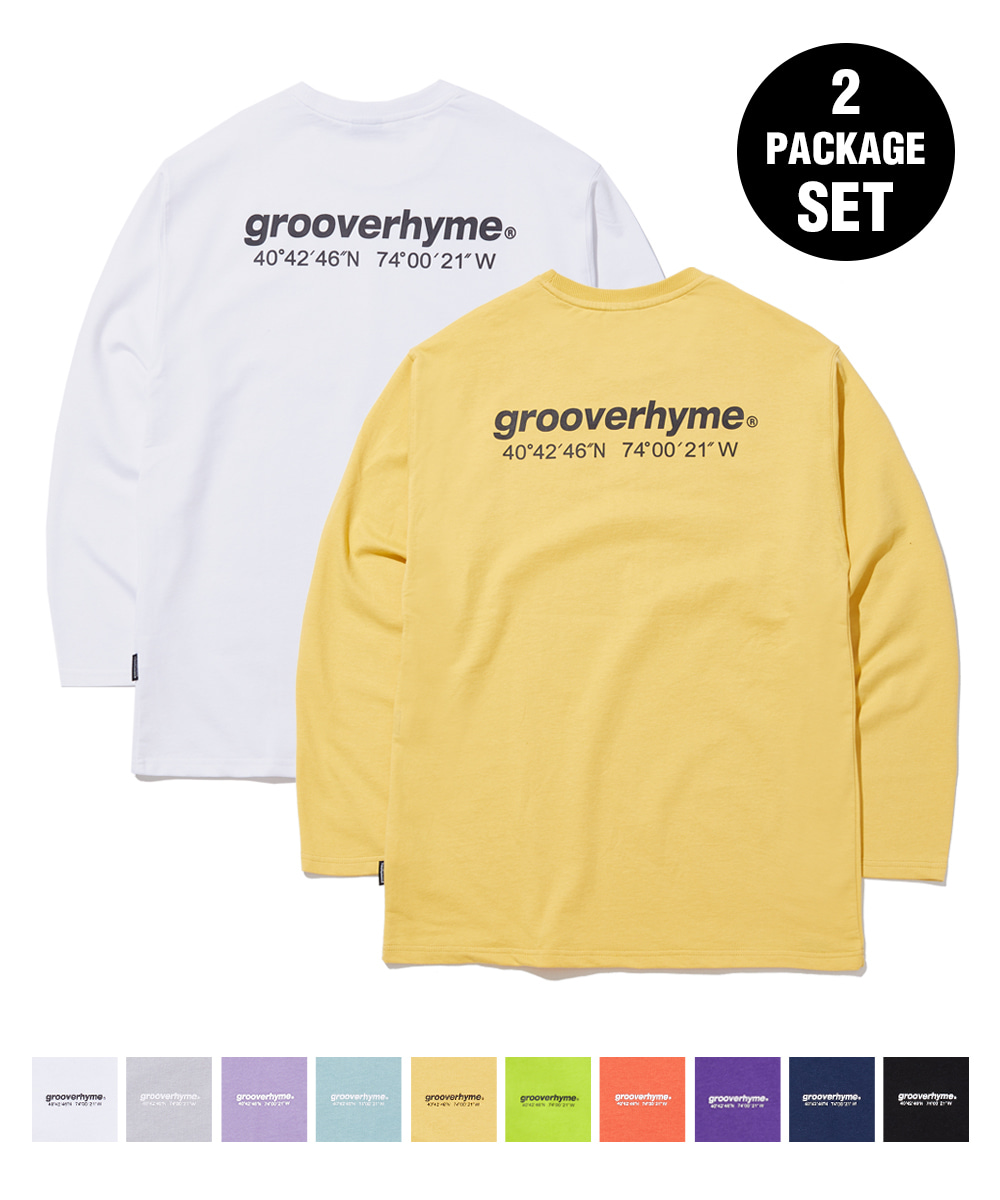 1+1 NYC LOCATION LONG SLEEVE T-SHIRTS (8color) [GLT623I13]