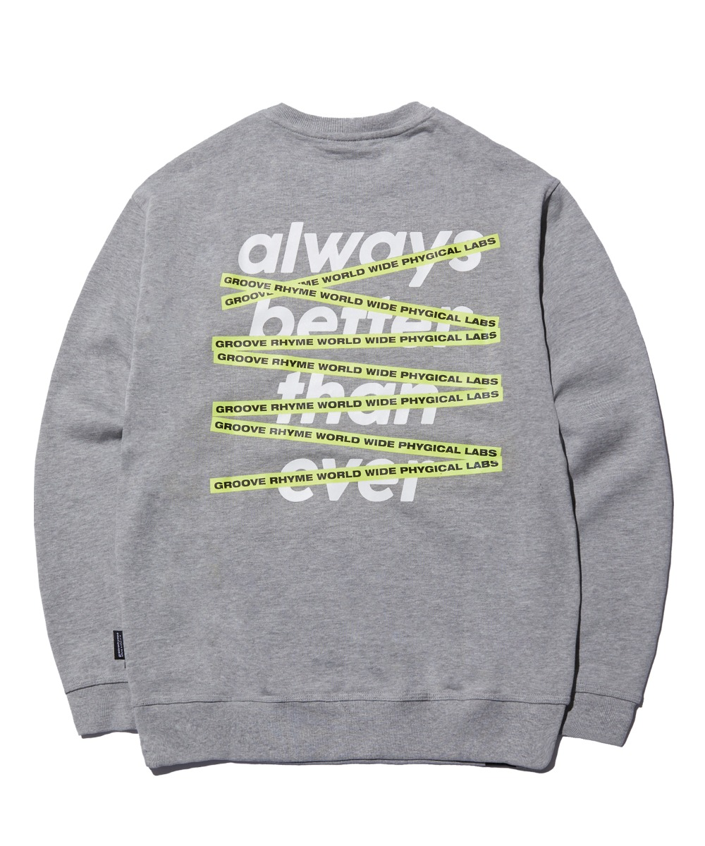 GROOVERHYME CROSSBAR SWEAT SHIRTS (GREY) [FROSCTM706MMG]