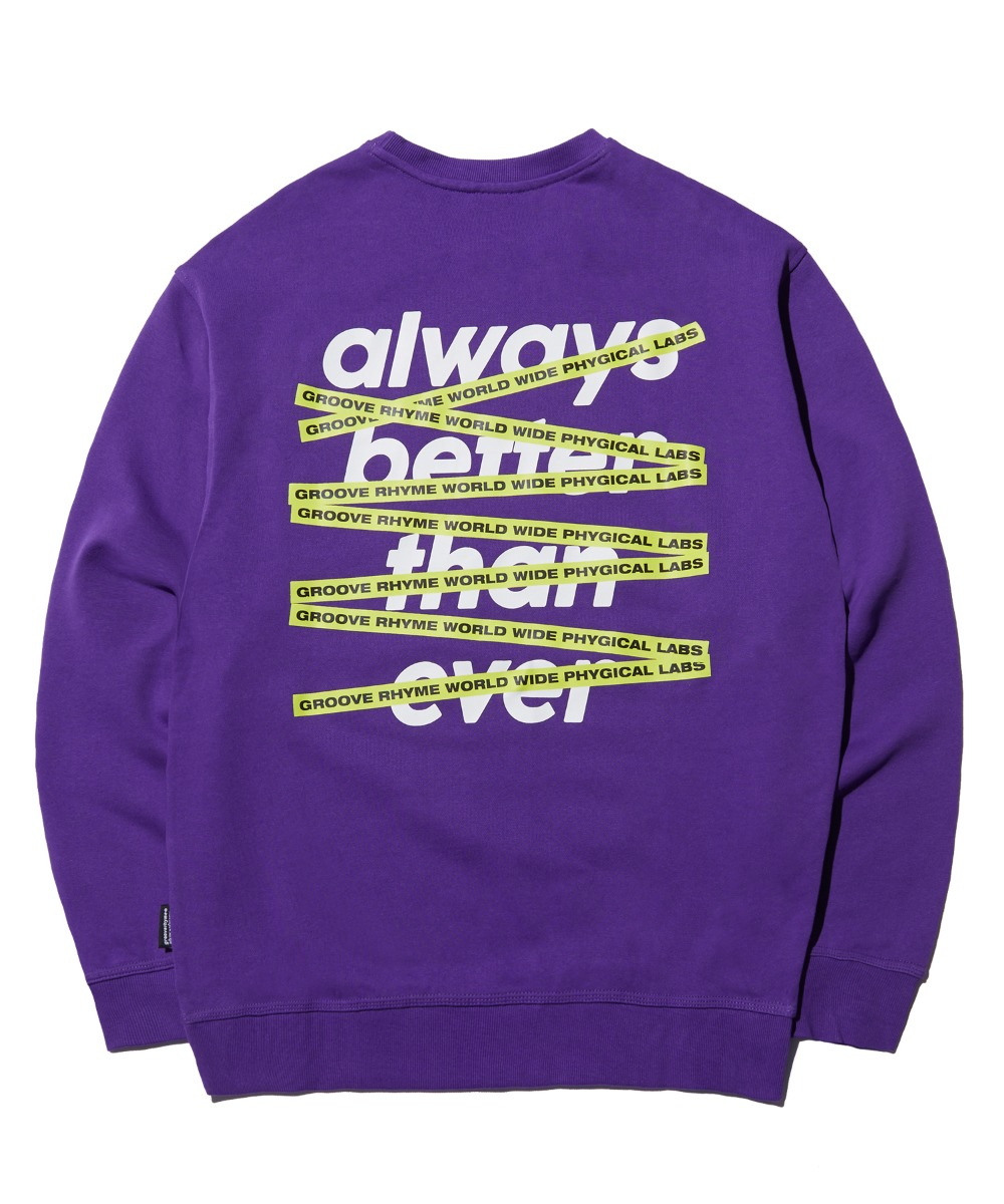GROOVERHYME CROSSBAR SWEAT SHIRTS (PURPLE) [FROSCTM706MPP]