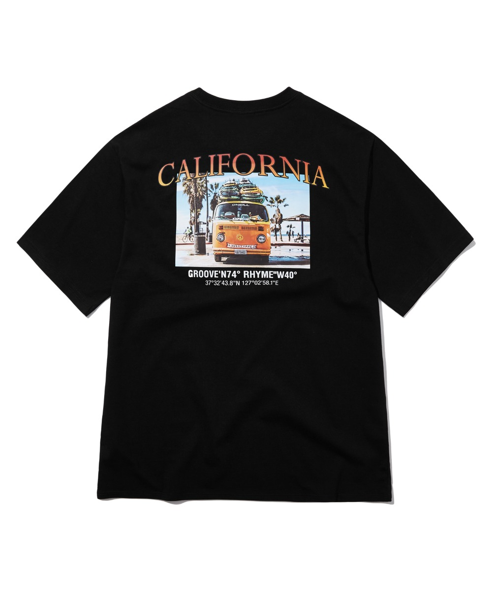 CALIFORNIA ARTWORK T-SHIRTS (BLACK) [GTS739I23BK]