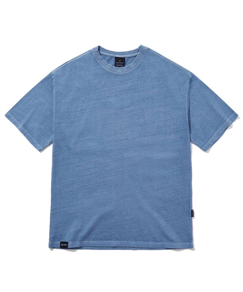 BASIC PIGMENT OVER FIT T-SHIRTS (BLUE) [GTS764I23BL]